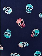 Navy Skull Super Soft Romper, SKULLS - BLUE, alternate
