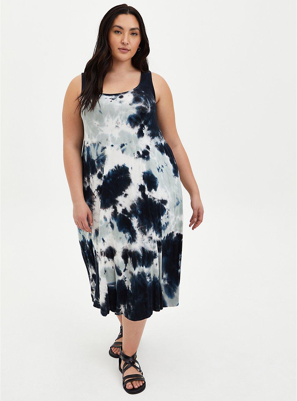 Multi Tie-Dye Super Soft Midi Dress, TIE DYE, hi-res