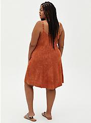 Orange Wash Challis Trapeze Dress, TIE DYE, alternate