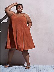 Orange Wash Challis Trapeze Dress, TIE DYE, hi-res