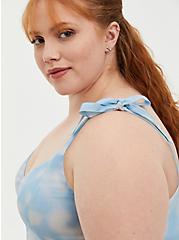 Blue Tie-Dye Tie Strap Skater Dress, TIE DYE-BLUE, alternate