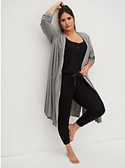 Super Soft Heather Grey Sleep Robe, GREY, hi-res