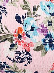 Pink Floral Off Shoulder Gauze Hi-Lo Maxi Dress , FLORAL - PINK, alternate