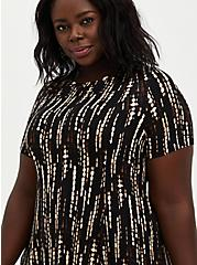 Black Tie-Dye Super Soft Mini Dress , TIE DYE-BLACK, alternate