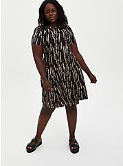 Black Tie-Dye Super Soft Mini Dress , TIE DYE-BLACK, hi-res
