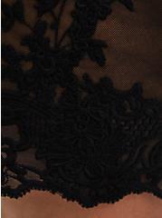 Black Embroidered Mesh Vest, DEEP BLACK, alternate