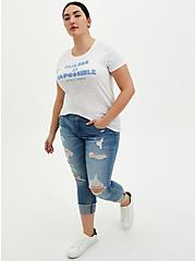 #TorridStrong Slim Fit Crew Tee - Failure Is Impossible White , BRIGHT WHITE, alternate