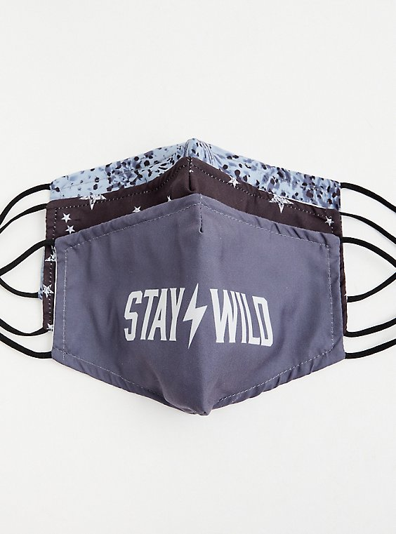 Stay Wild Non-Medical Reusable Masks - Pack of 3, , hi-res