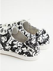 Disney Mickey & Friends Soft Canvas Sneaker , BLACK  WHITE, alternate