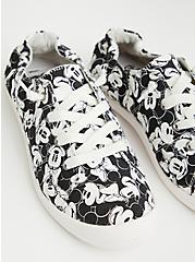 Disney Mickey & Friends Soft Canvas Sneaker , BLACK  WHITE, hi-res