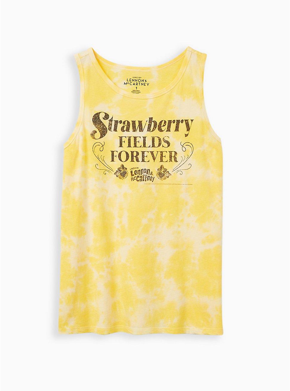 Yellow Tie-Dye Beatles Tank, MINERAL YELLOW, hi-res