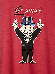 Plus Size Slim Fit Crew Tee – Monopoly Go Away Red, RED, alternate