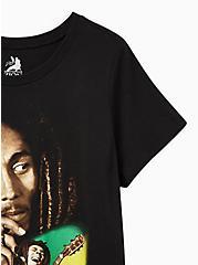 Plus Size Classic Fit Crew Tee – Bob Marley Black, DEEP BLACK, alternate