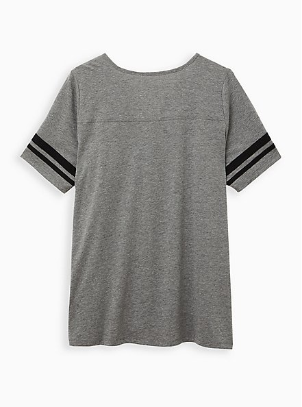 Plus Size Classic Fit Football Tee - The Goonies Grey, MEDIUM HEATHER GREY, alternate