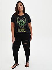 Plus Size Marvel Loki Ringer Top, DEEP BLACK, alternate