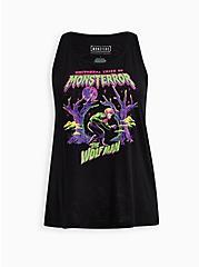 Universal Monsters Wolfman Sleep Tank, DEEP BLACK, hi-res