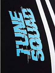 Space Jam 2 Side Stripe Crop Legging , DEEP BLACK-BRIGHT WHITE STRIPE, alternate