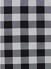 Retro Chic Midi Skater Dress - Stretch Poplin Gingham Black & White, GINGHAM WHITE-BLACK, alternate