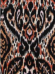 Sand Ikat Gauze Smocked Waist Tea Length Skirt, IKAT - COLORED, alternate