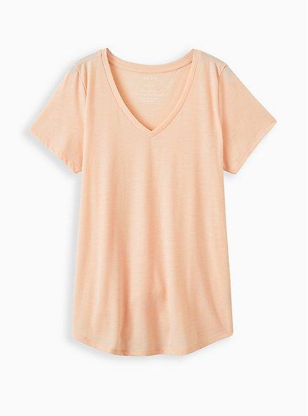 Girlfriend Tee - Signature Jersey Light Pink , PALE BLUSH, hi-res