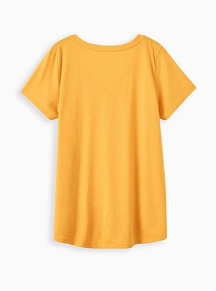 Plus Size Girlfriend Tee - Signature Jersey Mustard Yellow, OLD GOLD, alternate