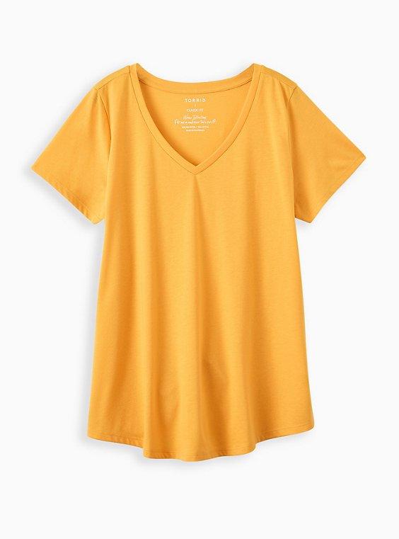 Girlfriend Tee - Signature Jersey Mustard Yellow, , hi-res
