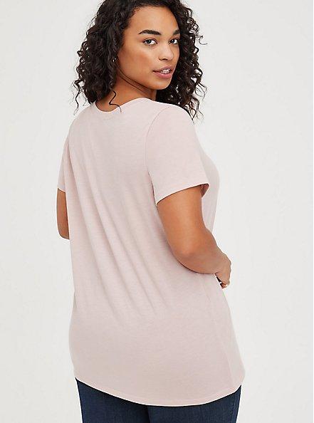 Plus Size Everyday Tee - Signature Jersey Mauve Pink, PALE MAUVE, alternate