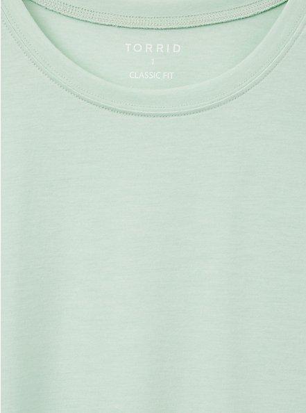 Plus Size Girlfriend Tee - Signature Jersey Dusty Sage, GRAYED JADE, alternate