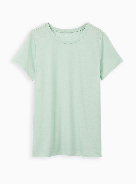 Plus Size Girlfriend Tee - Signature Jersey Dusty Sage, GRAYED JADE, hi-res