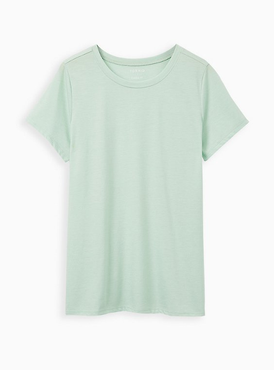 Girlfriend Tee - Signature Jersey Dusty Sage, GRAYED JADE, hi-res