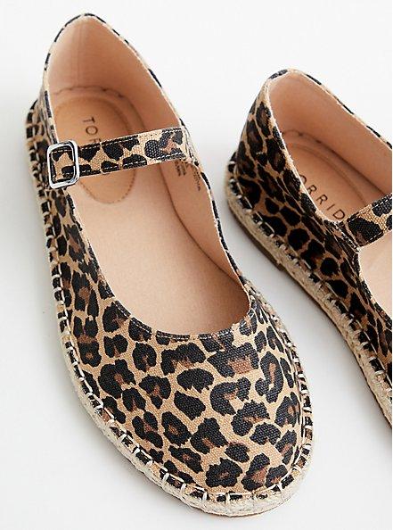 Canvas Espadrille Flat - Leopard (WW), LEOPARD, alternate