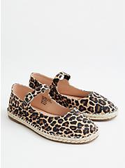 Canvas Espadrille Flat - Leopard (WW), LEOPARD, hi-res