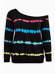 Plus Size K Pride Tie Dye Callie Sweatshirt , OTHER PRINTS, hi-res