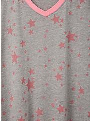 Grey Stars V Stars V-Neck Ringer Tee, OTHER PRINTS, alternate