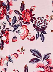 Button Front Top - Super Soft Floral Pink, OTHER PRINTS, alternate