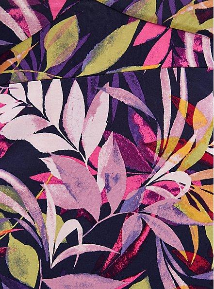 Multi Leaves Super Soft Smocked Off Shoulder Top, OTHER PRINTS, alternate