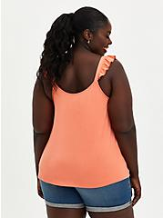 Coral Super Soft Sweetheart Lace-Up Tank, CORAL, alternate