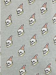 Grey Skull High Neck Wide Rib Tank, OTHER PRINTS, alternate