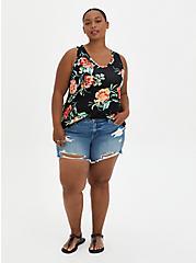 Plus Size Super Soft Swing Tank - Floral Black, OTHER PRINTS, alternate