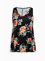 Plus Size Super Soft Swing Tank - Floral Black, OTHER PRINTS, hi-res