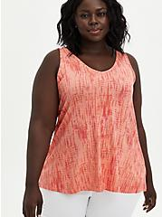 Super Soft Swing Tank - Tie-Dye Coral, OTHER PRINTS, hi-res