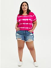 Perfect Tee - Super Soft Pink Tie-Dye, OTHER PRINTS, alternate