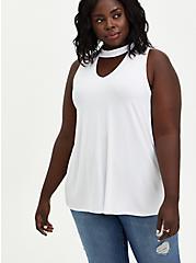 Super Soft Choker Swing Tank - White, BRIGHT WHITE, hi-res