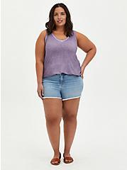 Plus Size Favorite Tunic Tank - Super Soft Purple Wash, PURPLE, alternate