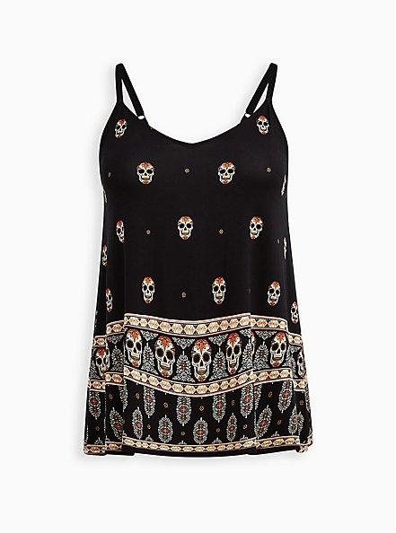 Swing Cami - Super Soft Skull Black, OTHER PRINTS, hi-res