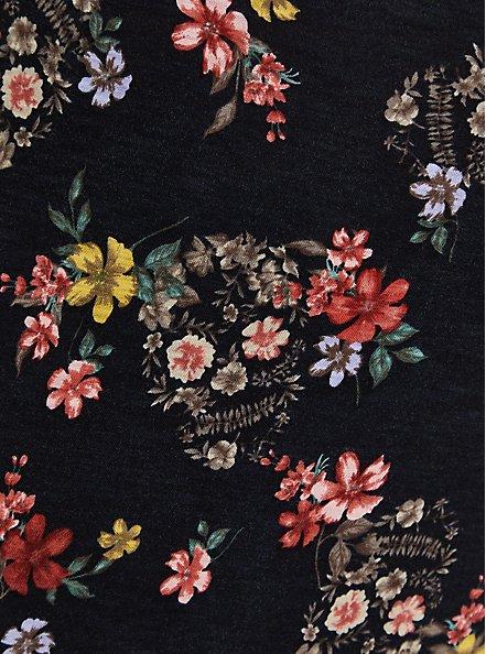Pocket Tee - Heritage Slub Black Floral, OTHER PRINTS, alternate