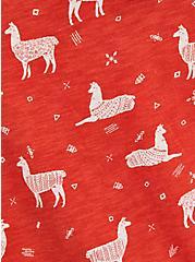 Pocket Tee - Heritage Slub Rust Llama, OTHER PRINTS, alternate
