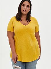Pocket Tee - Heritage Slub Mustard Yellow, MUSTARD HEATHER, hi-res