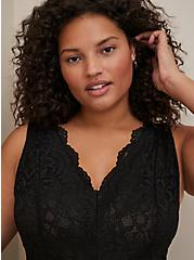 Super Soft Black Lace Bodysuit, DEEP BLACK, alternate