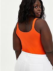 Wide Strap Foxy Tank - Orange, , alternate